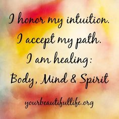 Mind. Body. Spirit.  www.facebook.com/yourbeautifullife