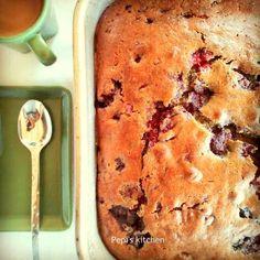 Κέικ με ρασμπερις http://laxtaristessyntages.blogspot.gr/2015/08/raspberry-cake.html