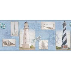 Bedtime Originals Sail Away Wallpaper Border On Amazoncom Baby - Discontinued lighthouse border