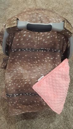 Carseat Tent - Deer Skin Cotton Carseat Canopy, Tent, Woodland - LOVE this! Baby Sister, My Baby Girl, Baby Love, Nursing Cover Up, Deer Nursery, Deer Skin, Baby Deer, Baby Feeding, Future Baby