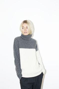 Blocked Turtleneck Sweater | Sayaka Davis - $352