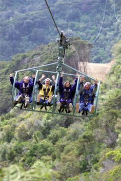 SkyWire is the only ride of its type in the world. Your adventure begins with a journey through bush trails to the terminal site that offers magnificent views over Tasman Bay. Adventure seekers are strapped onto a high tech 4 chair carriage, which is launched 1.6km over and back, high above a native forest valley. Reach speeds of up to 100kph (60mph) on an endless cable, dropping 150m like an extreme high speed ski lift