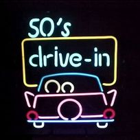 50s Drive In Theater Classic Car Neon Sign