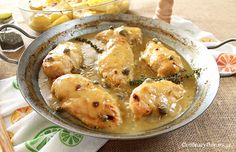 Greek Lemon Chicken with Capers and Mustard Potatoes
