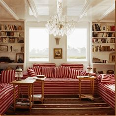 The Of Upholstery Red Striped Sofas