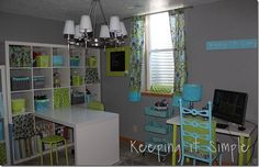 Kaysi made the craft room of her dreams and we have to agree! The colors are so vivid and beautiful! Make sure to check out more on Keeping it Simple. I am seriously in love with the colors I picked. I pretty much spray painted everything so everything would match perfectly. And yes, that's a …