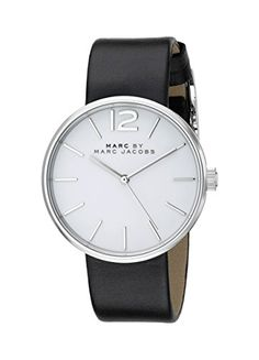 Marc by Marc Jacobs Women's MBM1365 Analog Display Analog Quartz Black Watch -