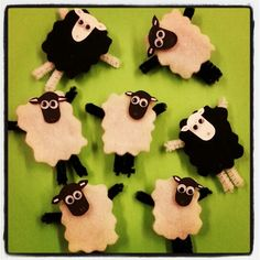 Sheep magnets! Who knew felt, pipe cleaners and google eyes could be so cute!