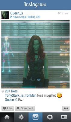 Gamora | 13 Instagrams From The Marvel Universe