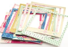 #Fabric frames by @maggiehdesign  LOVE!! #scrapbooking @crate_paper #polaroid