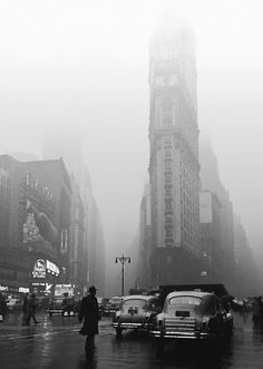 Rainy Times Square-NY 1949; Fred Stein