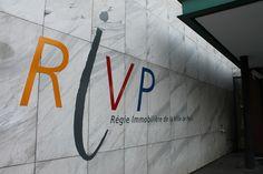 Enseigne en lettre aluminium RIVP