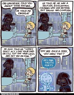 You are such a jerk Star Wars / Darth Vader / Luke Skywalker / Obi Wan Obi Wan, Star Wars Cartoon, Star Wars Meme, Funny Star Wars, Film Star Wars, Star Wars Rebels, Father Cartoon, Guerra Dos Clones, Star Wars