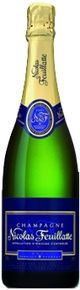 Nicolas Feuillatte Blue Label Brut $29.99 - A pale gold moire colour, a slightly fruity nose with a subtle predominance of white fruits: pear and apple. A balanced and elegant wine: the control of Nicolas Feuillatte blending. An ideal accompaniment for grilled fish.