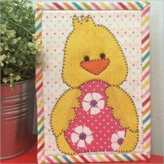 Easter Duckie Mug Rug