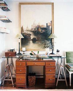 Coolest desk ever? Also, best reinterpretation of an antique. {patrick cline for lonny december 2012}