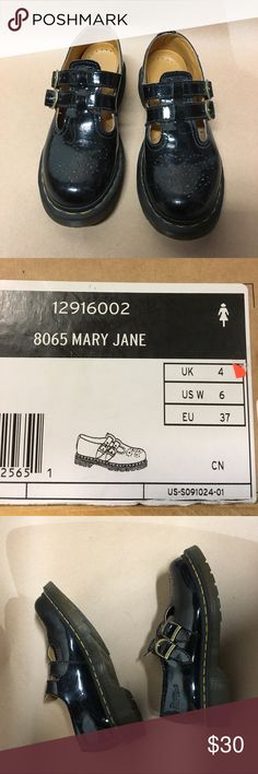 Dr martens Mary Jane! Super cute!! As you can see in the pictures, they are still in good condition!! Never outdated!   100% authentic!   Questions are welcomed! 😘😘 thank you for visiting my closet ! Dr. Martens Shoes