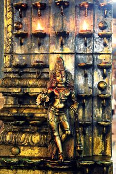 """""""Figurine at door to a South Indian temple"""" by Jaideep Chowdhary"""