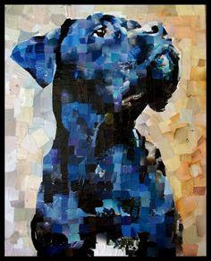 Anita '10 24x30. Magazine mosaic art by Samuel Price.