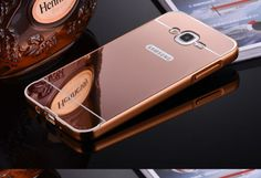 For-Samsung-Galaxy-ON5-G5500-ON7-Metal-Frame-Bumper-PC-Mirror-Back-Case-Cover