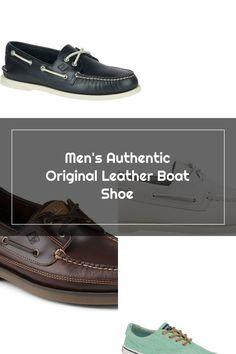 Men's Authentic Original Leather Boat Shoe Navy Sperrys Men, Leather Boat Shoes, Navy, The Originals, Hale Navy, Old Navy, Navy Blue