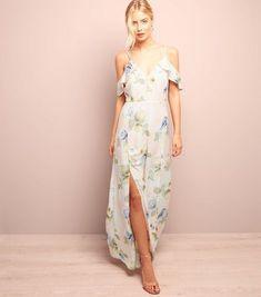 99ac60f6c9e2 New Look Pink Floral Split Side Cold Shoulder Maxi Dress Size UK 10 DH087  GG 16. WOMEN S DRESSESSummer DressesFashion ...