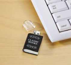Classic Books USB - 20 Awesome Gift Ideas For Bookworms (That Aren't Books)   Blushing Geek