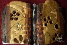 Carte cu coperti de lemn Natura (N001), by cheilenereinfo, 150 Lei
