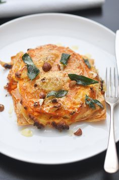 Pumpkin and Ricotta Lasagna with Sage, Hazelnuts and Burnt Butter Sauce