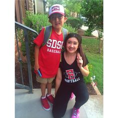 Some lovely Aztec fans showing off their red and black gear. Thanks to @deserae_d for the photo.