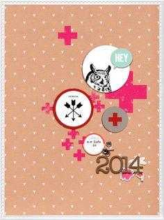 Project Life 2014 | Title Page by Chantal Philippe (aka ChantalK)