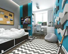 JASNE MIESZKANIE - Duży pokój dziecka dla chłopca dla ucznia dla nastolatka, styl nowoczesny - zdjęcie od PEKA STUDIO