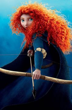 Merida from Brave due in June-love the curly red hair and the fact that Pixar is finally giving young girls a role model. Film Pixar, Pixar Movies, Disney Movies, Buy Movies, Animation Movies, Watch Movies, Movies Online, Disney Pixar, Disney Magic