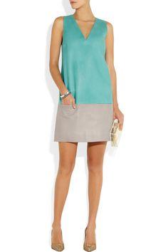 Richard Nicoll|Color-block leather dress|NET-A-PORTER.COM