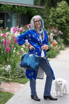 ADVANCED STYLE: Dolores Forsythe: Bichons and Bangles