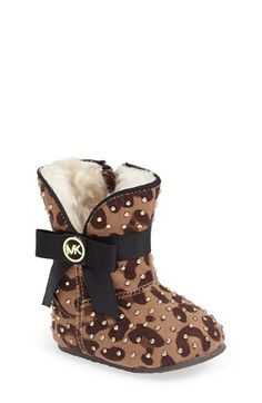 MICHAEL Michael Kors 'Baby Grace' Crib Shoe (Baby) available at #Nordstrom
