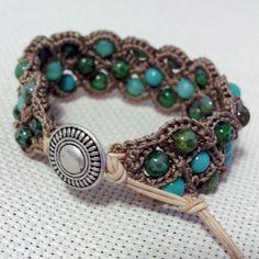 Beautiful bohemian beaded bracelet cuff ♥