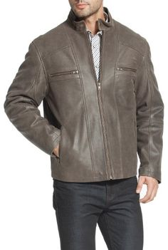 online shopping for BGSD Men's Ethan Distressed Brown Leather Motorcycle Jacket from top store. See new offer for BGSD Men's Ethan Distressed Brown Leather Motorcycle Jacket Brown Leather Motorcycle Jacket, Distressed Leather Jacket, Faux Leather Jackets, Leather Men, Heated Jacket, Rain Suit, Jackets Online, Menswear, Emoji