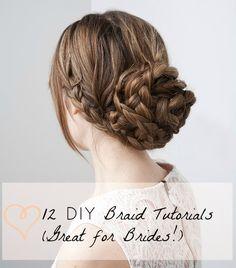 12 DIY Braid Tutorials (Great for Brides!)