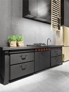 Metal #kitchen Minà by Minacciolo | #design Silvio Stefani, R & S Minacciolo