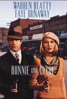 Bonnie and Clyde (1967)...A somewhat romanticized account of the career of the notoriously violent bank robbing couple and their gang.