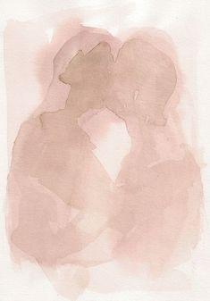François-Henri Galland // painting / mauve / rose / watercolor / pretty / love / romance