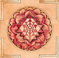 The Sri Chakra-Sri Yantra Mandala – Yes to Spirituality Sacred Geometry Symbols, Geometry Art, Fractal Geometry, Tantra, Mandala Design, Mandala Art, Sri Yantra Meaning, Sri Yantra Tattoo, Chakra Tattoo