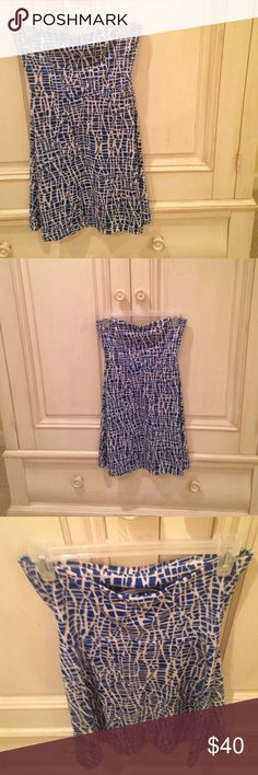 SALE🍾Susana Monaco Strapless dress One very small stain on the front (which may be bleachable) and blends in well with the pattern.  Size is not listed on the tag. I wear a Medium and it fits.  Any questions, just ask! 🎀 Susana Monaco Dresses Strapless