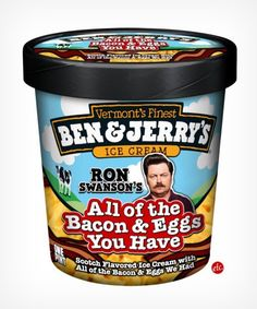 Ron Swanson inspired ice cream.