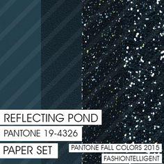 Glitter&Plain PAPER Reflecting Pond PANTONE by Fashiontelligent