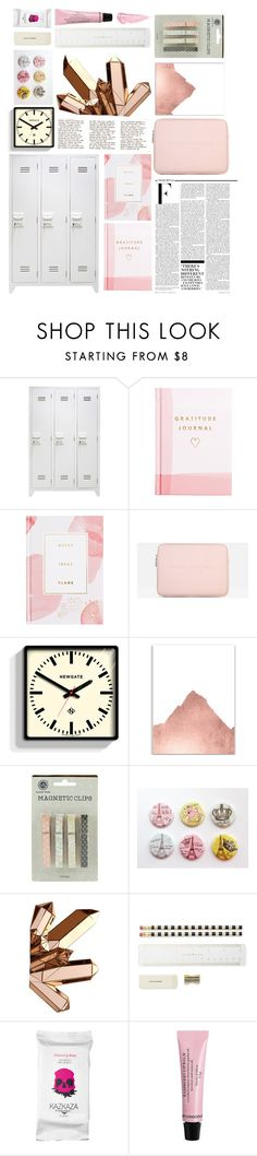 """""""rose gold locker"""" by lialicious ❤ liked on Polyvore featuring interior, interiors, interior design, home, home decor, interior decorating, Nicki Minaj, Thrive, Marc Jacobs and Newgate"""