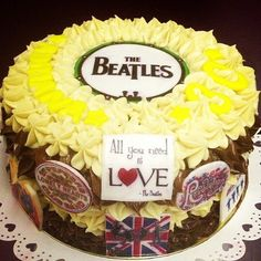 Beatles cake @Kelli Chambers I can tag you now! Look maybe something like this.