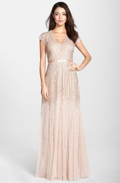 The prettiest blush embellished gown