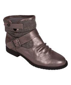 Look at this #zulilyfind! Pewter Asteroid & Gray Rough Trios Ankle Boot #zulilyfinds